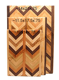 large herringbone boards