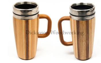 multiwood travel mugs with handle
