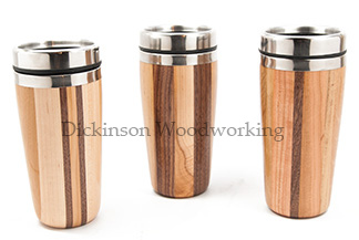 wood travel mugs
